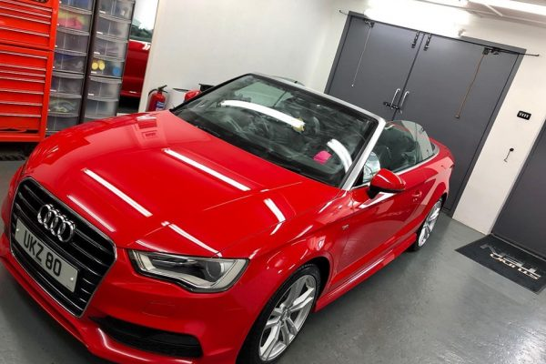 Audi A3 Convertible Red